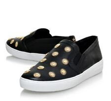 Michael Kors Leopard Slip-on SNEAKERS Trainers Black/gold Size 38
