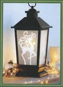 Reindeer Hanging Standing Lantern & Flameless Candle New Indoor Outdoor Timer