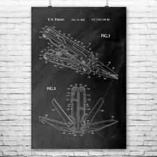 Herramienta multiuso de arte cartel impresión multi herramienta Handyman Regalo Arte Navaja de bolsillo