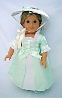 "Doll Clothes 18"" Doll Colonial Party Summer Dress Fits American Girl Dolls"