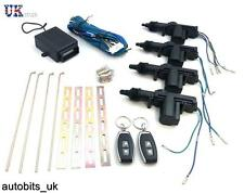 Universal Car 4 Door Actuators 2 Remote Controls Central Locking System Kit Set