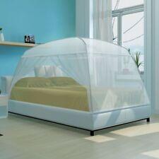 vidaXL Mongolia Net 2 Doors 200x120x130cm White Bed Mosquito Insect Screen