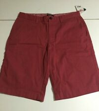 George Mens Red Flat Front Shorts Size 30 NWT
