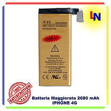 Batteria Potente Maggiorata 2680 mAh Oro per Iphone 4 - Nuova ZERO CICLI