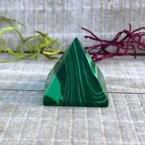 Malachite Crystal Pyramid Small Malachite Polished Reiki Pyramid Healing crystal