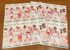 2015 MLB BOSTON RED SOX BASEBALL SEASON FULL TICKETS 10 GAMES X2 - 20 TIX ORTIZ