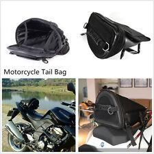 1 Pcs Motorcycle Dirt Bike Black Tail Bag Back Seat Storage Carry Bag Handle Bag