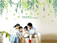 Green Leaves And Vines Home Decor Removable Wall Stickers Decals Decoration*