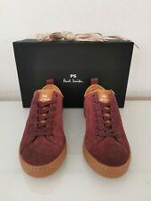 100% Authentic Paul Smith Miyata Bordeaux Suede Lace Up Trainers UK 6 EU 40 BNIB
