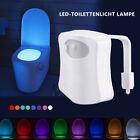 LED Toilettendeckel WC Sitz Klodeckel Nachtlicht mit Motion Sensor 8 Farbe