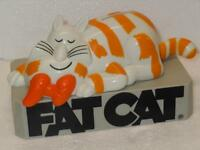 "FAT CAT Vintage 7"" Plastic Coin Piggy Bank Ultra HTF Collectible Cartoon China"