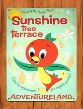 "TIN SIGN ""Sunshine Tree Terrace"" Disney Vintage Art Poster Orange Bird"