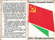 TESSERA P.C.I PARTITO COMUNISTA ITALIANO 1975 SEZIONE DI ALBENGA 11-167