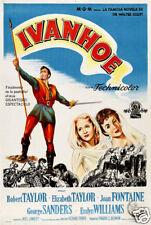 Ivanhoe Robert Taylor vintage movie poster print