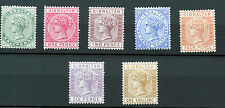 Gibraltar 1886-87 Definitives SG9-14 WMK Crown CA  P14.Mounted Mint Cat £600