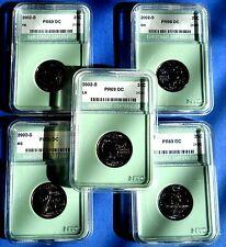 2002-S WASHINGTON GEM+++PROOF STATE QUARTER SET-DEEP CAMEO COIN SLABS