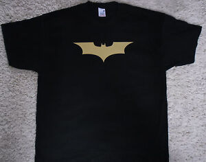 BATMAN DARK KNIGHT LOGO MEN'S HEAVY T-SHIRT