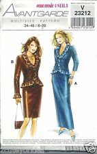 Avantgarde Sewing Pattern V23212 Career Fitted Skirt and Jacket Size 8-20 NEW
