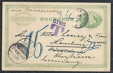 Japan 1898 DUE Wander PC to Hamburg