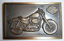 "Harley Davidson SPORTSTER brass plaque 4 1/8"" x 2 5/8"""