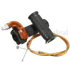 Restricter Twist Throttle & Cable For 47cc 49cc MINI MOTO Pit Dirt Bike ATV QUAD