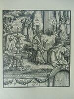 Burgkmair 2 Holzschnitte Kaiser Maximilian Weilskunig Gemahlin Maria von Burgund