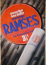 KURT TEUBNER - Original Plakatentwurf für RAMSES Zigaretten Dresden 1930er Jahre