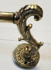 Cast brass towel railPan rack old vintage Kitchen French 632mm French c1920 wow