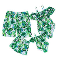 Family Matching Swimwear One Piece Mother Daughter Dad Son Summer Bathing Suits