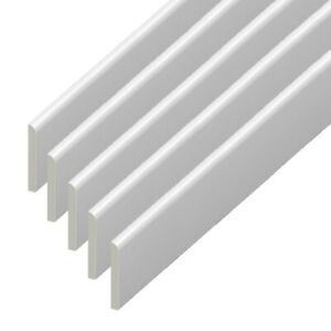 45mm PVC Architrave - Plastic Skirting Board / Window Trim  - 5 x 95cm Lengths