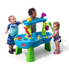 Step2 Rain Showers Splash Pond Water Table, Toddler Little Kids Outdoor Play Toy