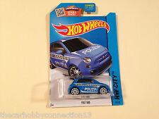 Hot Wheels HW City 2014 Fiat 500 Cinquecento Blue Polizia 1:64 Diecast