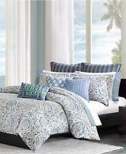 Echo Design Kamala CAL KING Comforter and Bedskirt Set White/Blue $382 I041