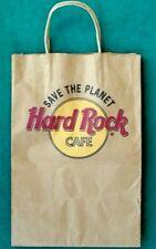"Rare Vintage Collecible Hard Rock Cafe Save The Planet Paper Bag 9""  x13"""