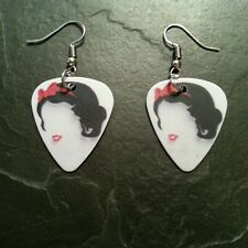 Snow White Princess Pop Art Guitar Pick Earrings Accessory Music Gift Present