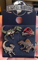 Universal Studios Exclusive Jurassic Park 4 Pin Set New on Card