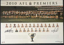 COLLINGWOOD 2010 PREMIERS NICK MAXWELL MICK MALTHOUSE SIGNED LIMITED AFL PRINT