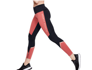 Under Armour Leggings Womens Small Coldgear High Rise Compression Pink Black