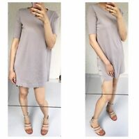 Lilac Cotton And Silk Tunic Dress By COS Sz S