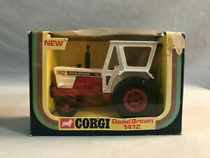 Vintage Corgi DAVID BROWN 1412 Tractor Diecast TOY Red & White NEW IN BOX