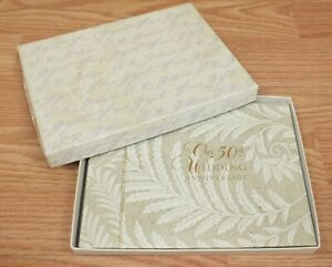 Genuine C.R Gibson 50th Wedding Anniversary Guest & Gifts Book in Box **READ**