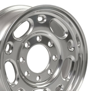 "16"" Rim Fits 8-Lug Chevy GM Silverado Sierra CV82 8x165 Polished 5079 16x6.5"