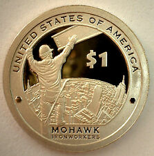 2015 S SACAGAWEA Golden Dollar Native American PROOF Coin Mohawk Ironworkers $1
