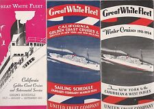GREAT WHITE FLEET  UNITED FRUIT COMPANY 4 1933-34 BROCHURES