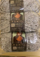 Three (3) Brand Wool-Ease Thick Quick  Gray Marble  6 Super Bulky Washable Yarn