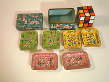 Antique CHinese Export Canton Enamel Box nut pin trays