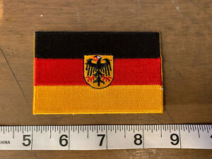 MEDIUM GERMAN FLAG RACING PATCH SCCA PORSCHE BMW AUDI MERCEDES BENZ AMG F1