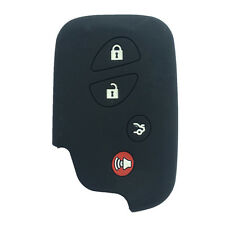 Black 4 Buttons Silicone Key Fob Skin cover Key Jacket Remote Case fit for Lexus