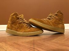 meet 9db30 7ff4b Men s 9.5 Nike Air Jordan 1 Retro High OG Wheat Flax Golden Harvest  555088-710