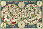 1680 Frederik de Wit Celestial Map Zodiac Chart Astrological Star Art Print